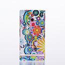 Housse Sony Xperia P LT22i Plastique Fleurs - Verte